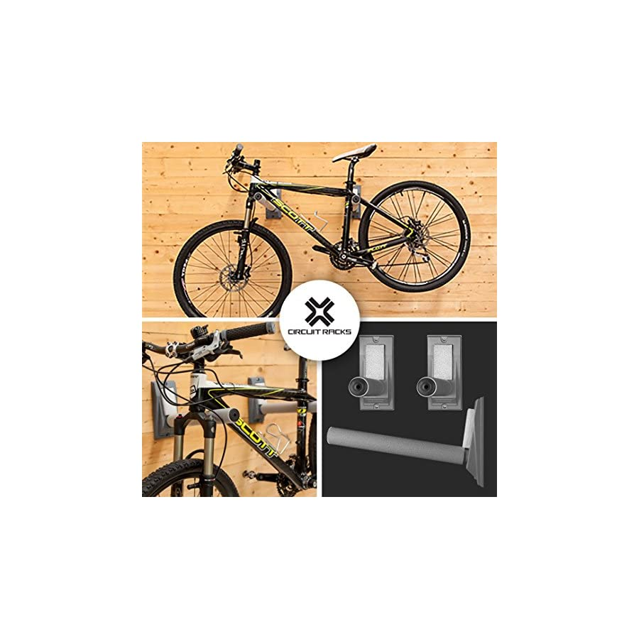 Circuit Racks Heavy duty universal fit wall storage racks, for vertical or horizontal mounting, fully adjustable for any sport, easy to install 16 inches long