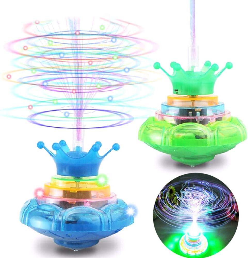 Con sede nel Regno Unito Lampeggiante LED Trottola Magnetica giroscopio RUOTA Pista Giocattolo Bambini Regalo
