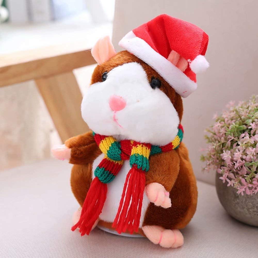 Luminous1128 Hamster Plüsch-Puppe, Reden Hamster, wiederholen, was Sie sagte in Rap Reden füllte Plüsch-Hamster gefüllte Puppe Spielzeug Elektronische Tierpuppe-Kind-Geschenk B
