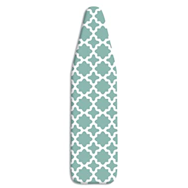 Whitmor Deluxe Ironing Board Cover and Pad - Concord Turquoise