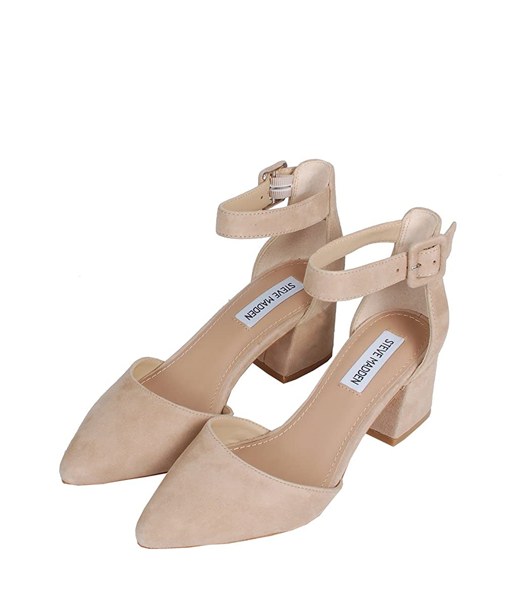 befe053abec Steve Madden Dainna Camel Suede Sandals  Amazon.co.uk  Shoes   Bags