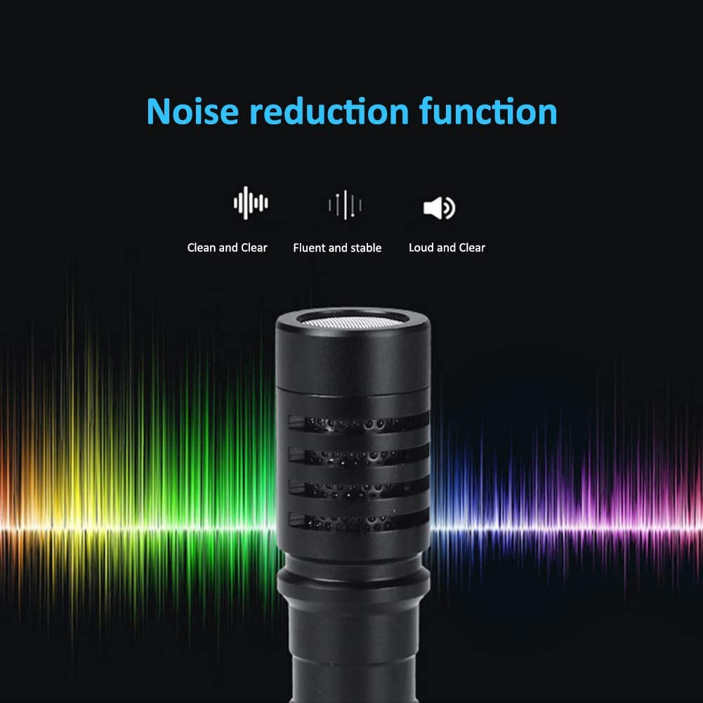 Mini Portable Microphone,Cardioid Condenser Microphone with a Shockproof Mount,Storage Bag,Anti-Shake Bracket,Compatible with DSLR Camera Computer Device,iOS Phones,Android System Phone