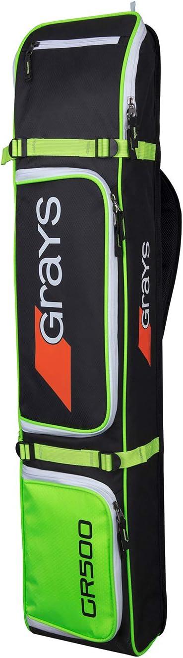 Grays GR300 colore Borsa per bastone da hockey Nero//Giallo fluo