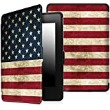 Fintie SlimShell Case for Kindle Paperwhite - The Thinnest and Lightest PU Leather Cover Auto Sleep/Wake for All-New Amazon Kindle Paperwhite (Fits All 2012, 2013, 2015 and 2016 Versions), US Flag