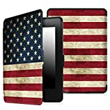 Fintie SmartShell Case for Kindle Paperwhite - The Thinnest and Lightest PU Leather Cover Auto Sleep / Wake for All-New Amazon Kindle Paperwhite (Fits All 2012, 2013, 2015 and 2016 Versions), US Flag