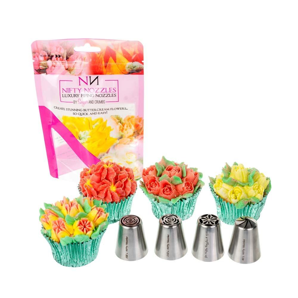 4 x Nozzles Cake Baking Decorating Nifty Nozzle Bundle Nifty Nozzles