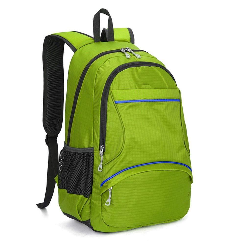 Green DYR Sports Backpack Office Computer Backpack Outing Backpack Big and Medium Student Bag Shoulder Messenger Bag