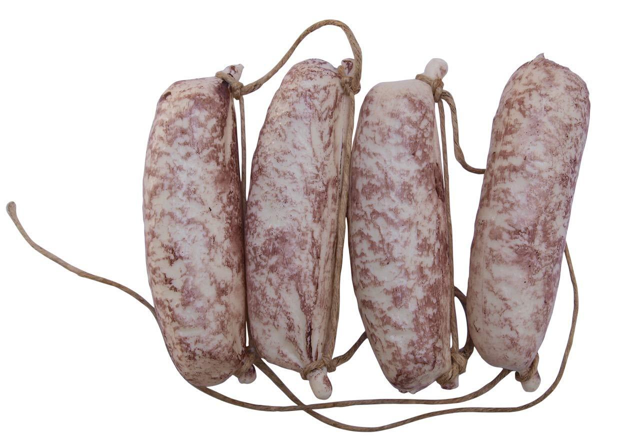 Finta: w/ürstel catena bianco alimentare/ w/ürstel finta decorativo finto Food, /molto leggero hohlattr Appe in plastica pressofuso alimenti imitazione idea regalo