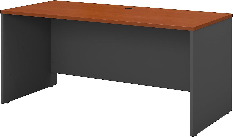 Bush Business Furniture Series C 60W x 24D Credenza Desk in Auburn Maple
