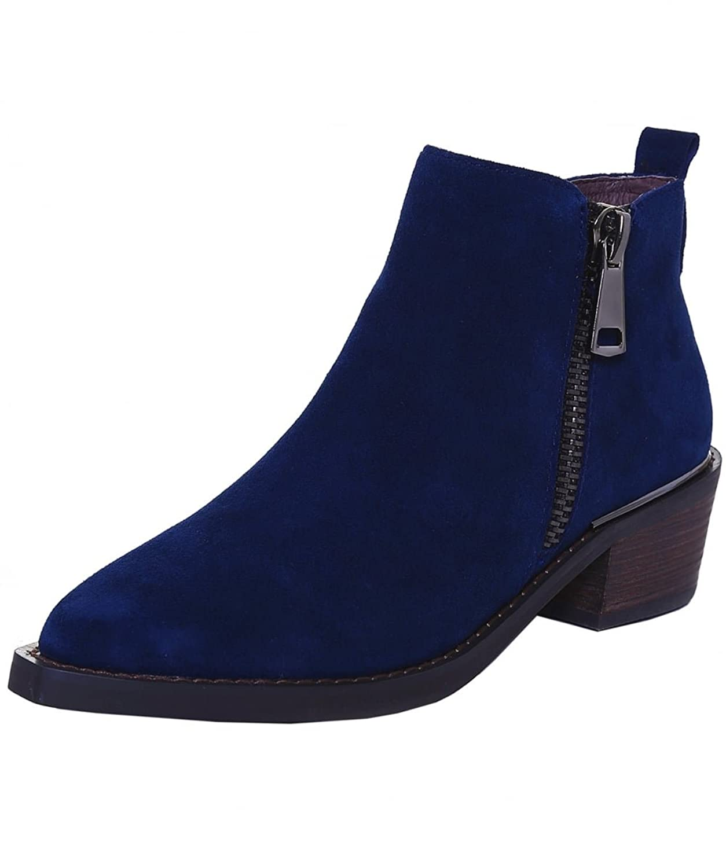 Alma en Pena Women's Suede Riding Boots Cosmos Blue
