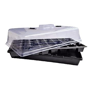Extra Fuerza 32 Cell Seedling – Juego de bandejas para germinación de semillas, bandejas de