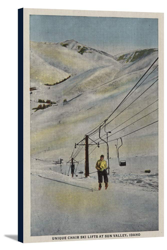 Sun Valley、ID – Mountainシーン、スキーリフトin Snow 22 3/4 x 36 Gallery Canvas LANT-3P-SC-6549-24x36 B0184ACKOG  22 3/4 x 36 Gallery Canvas