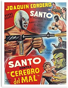 The Movies El Saint Spanish Mexican Luchador Film Enmascarado Santo The Best and Style Home Decor Wall Art Print Poster Customize