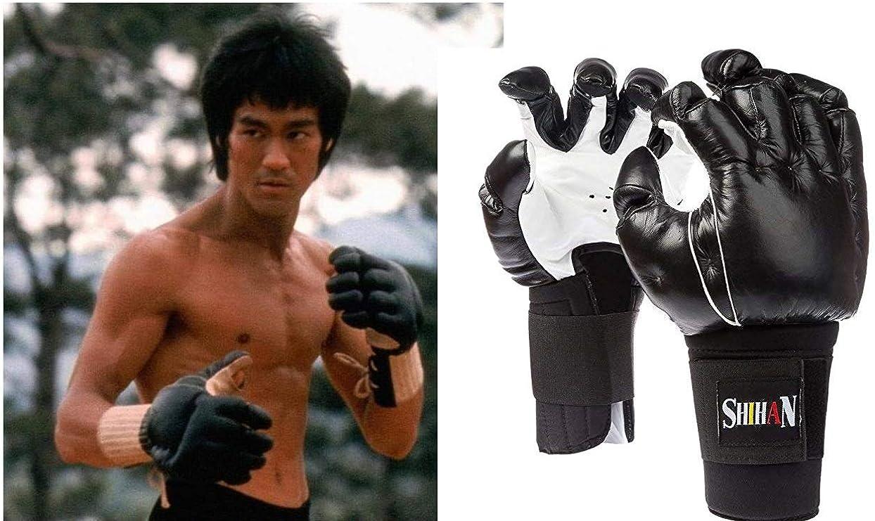 Shihans BONG SAU Kempo Gloves,Kung Fu,Kempo Chinese Kickboxing Genuine Leather 1 Size Senior,
