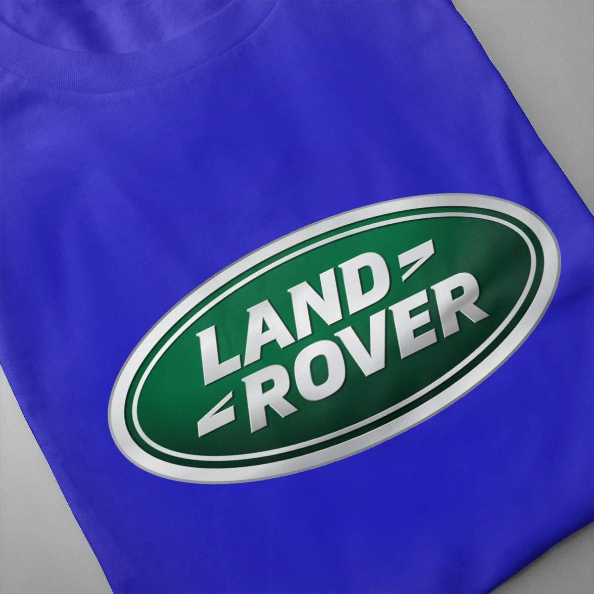 Mens Classic Land-Rover-Logo Logo Vintage T Shirt Tee Shirts Summer Short Sleeve Tshirt for Men Round Neck T-Shirt