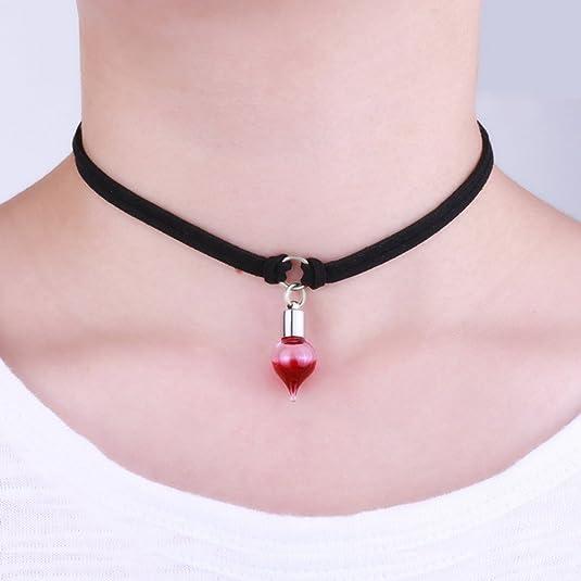 bestoyard ajustable Red Blood Drip Choker Collar Halloween Disfraz accesorios (Loop de diseño): Amazon.es: Joyería