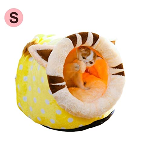Nido de Mascotas, Perrera extraíble Perrito Lavable de Peluche Bear Dog Yurt Carpa Pet Nest Cat Litter Dog Bed Casa de Perro S/M/L: Amazon.es: Productos ...