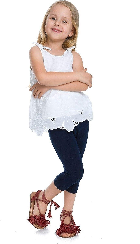 Cropped Girls Children Kids 3//4 Soft Basic Plain Capri Leggings Pants Age 2 3 4 5 6 7 8 9 10 11