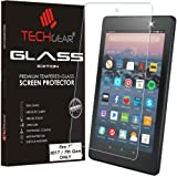 """TECHGEAR® All new Amazon Fire 7"""" Alexa Tablet (2017 Edition / 7th Gen) GLASS Edition Genuine Tempered Glass Screen Protector Guard Cover"""