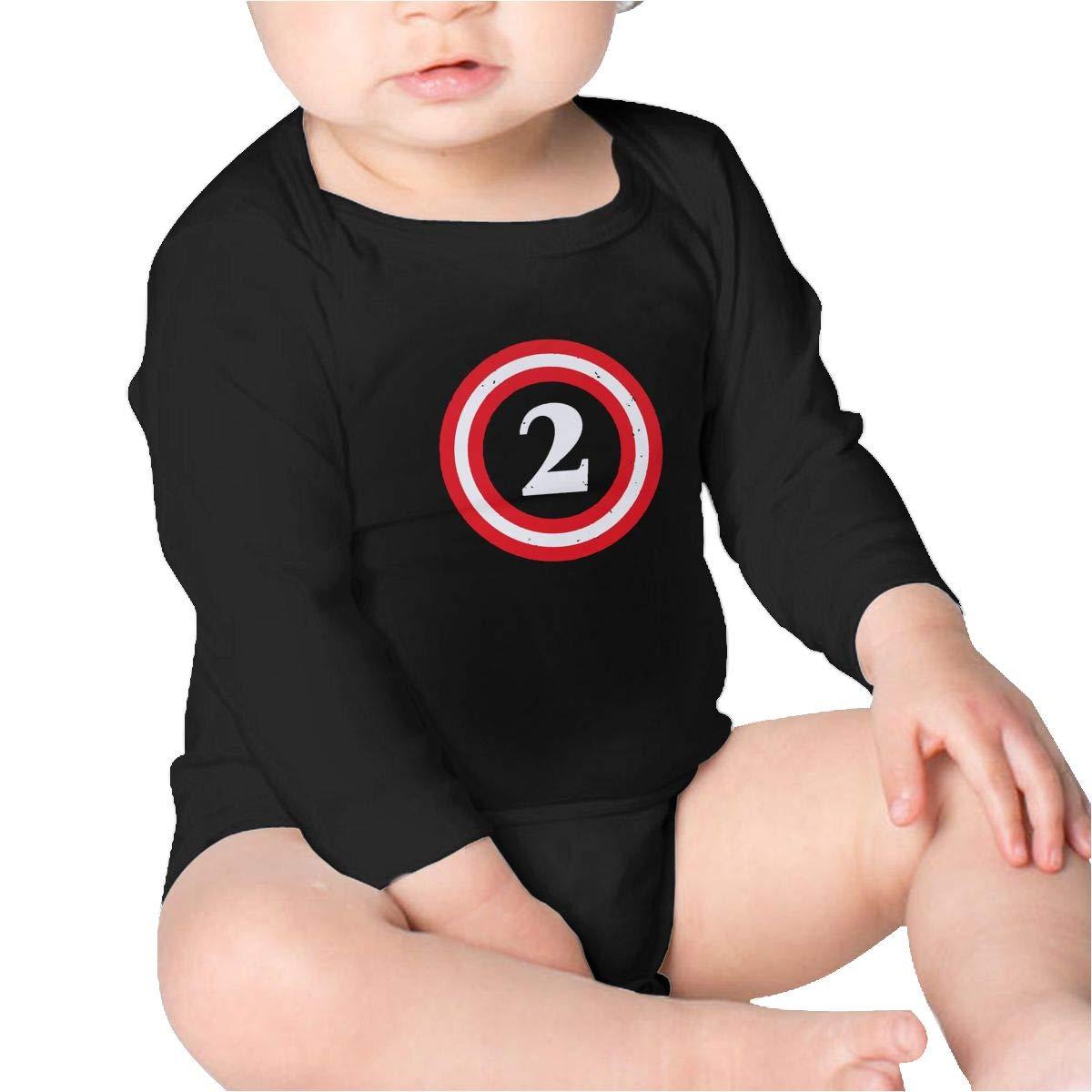 Pikaqiuleilei Captain 2nd Birthday Toddler Cotton,Long Sleeve Infantile Suit