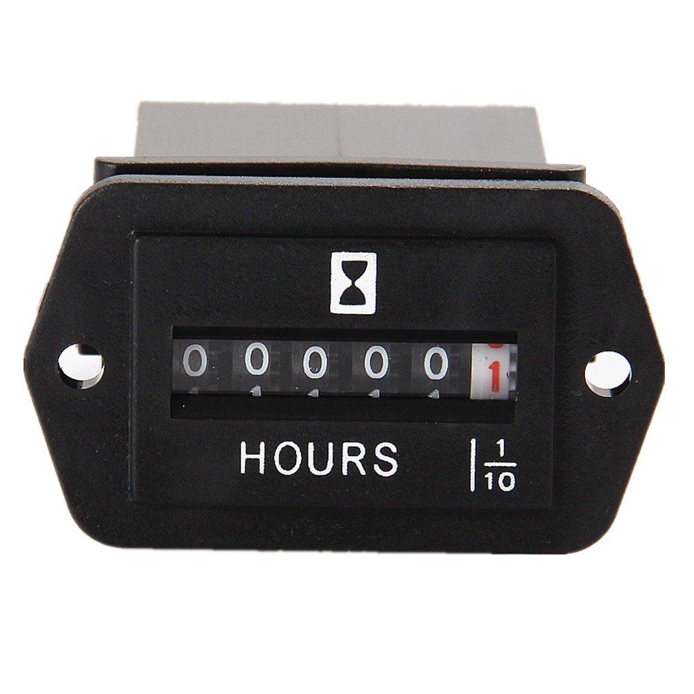 Dc Volt Hour Meter : Searon dc v mechanical engine hour