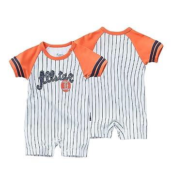 Amazon.es: Traje de Ropa para Bebé niños recién Nacidos Batas de Verano Mameluco de Manga Corta, Numero 01 All Star Naranja [73CM]: Juguetes y juegos