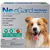 Antipulgas e Carrapatos NexGard para Cães de 10,1 a 25kg - 1 tablete