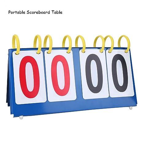 Eizur Tabla de puntuación portátil de 4 dígitos para baloncesto y ...