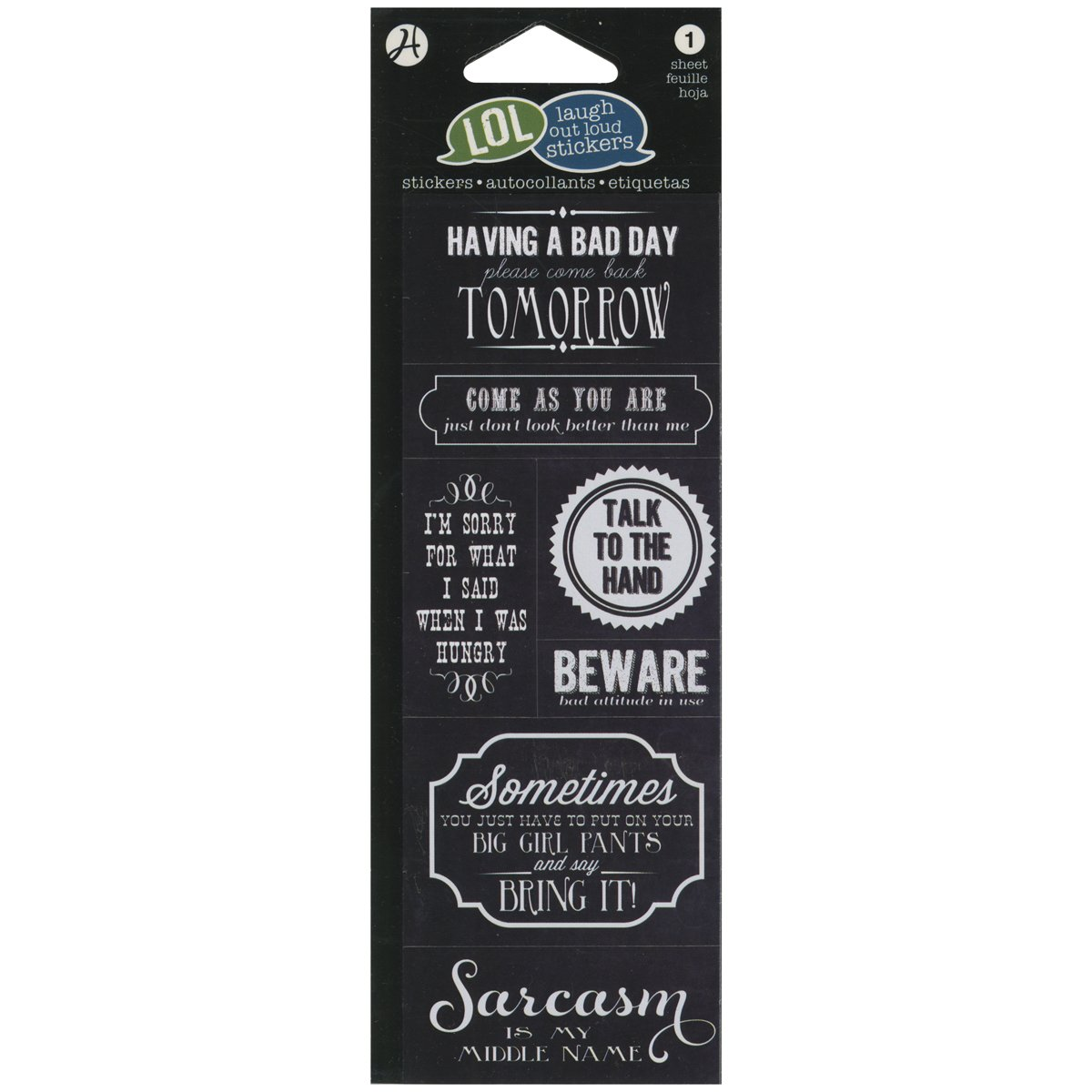 Hampton Art AC-395 LOL Stickers Beware
