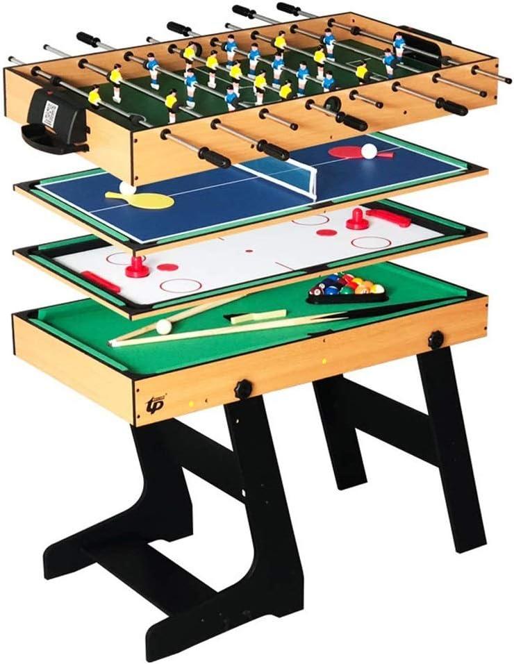 BEANFAN Futbolín Mesa de la máquina Multifuncional de fútbol, Mesa de Billar, Mesa de Ping-Pong, Plegable Hockey sobre Hielo (Tamaño: 103x58x72cm): Amazon.es: Deportes y aire libre