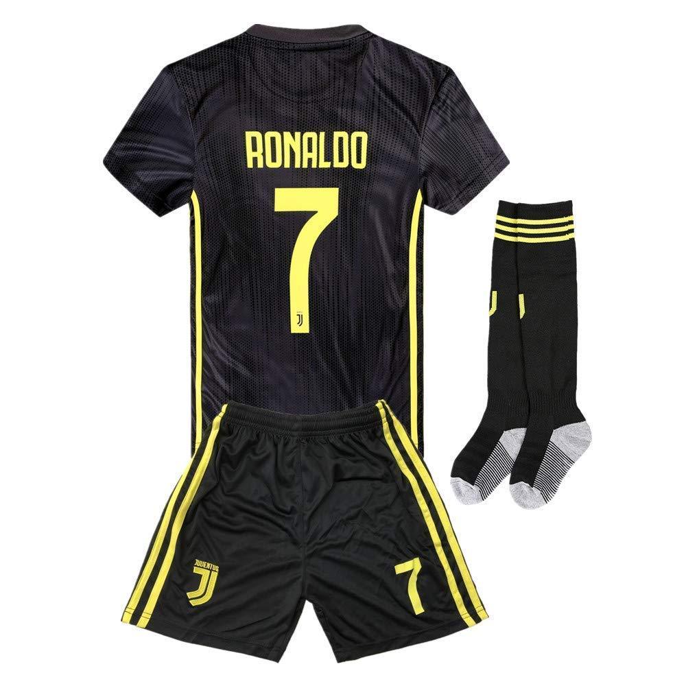 f9c0ad7efcf 2018-2019 Away Home C Ronaldo  7 Juventus Kids Youth Soccer Jersey   Shorts