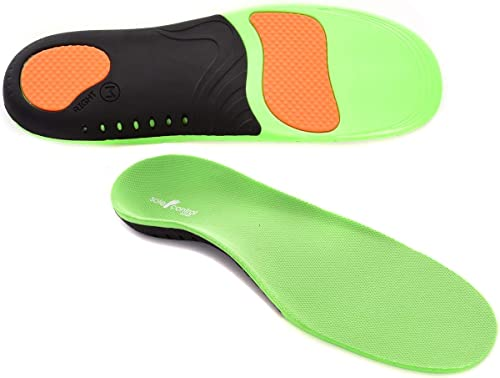 Physix Gear Sport Full Length Orthotic Inserts Arch Support Best Shock S 5-6.5