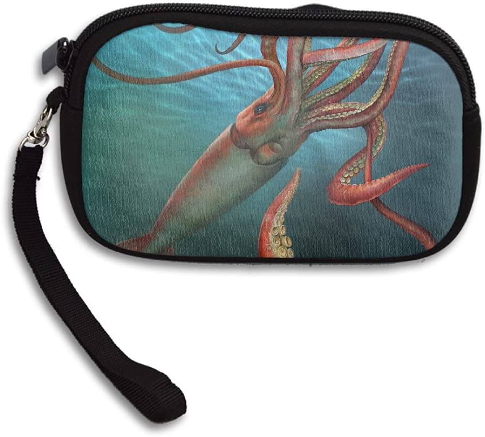 Cool Giant Squid Deluxe Printing Small Purse Portable Receiving Bag