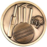 Lapal Dimension CRICKET MEDALLION - ANTIQUE GOLD 2.75in PACK OF TEN