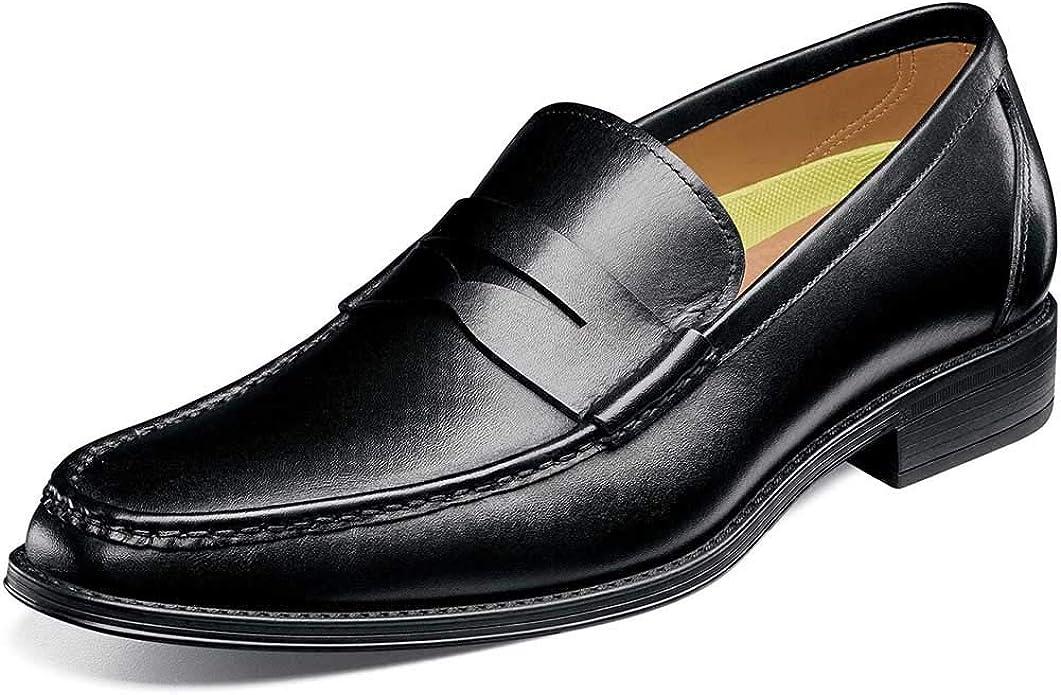 Florsheim Men/'s Amelio Moc Toe Penny Loafer Shoes 14246-001D Black