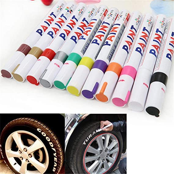 Universal Waterproof Permanent Paint Marker Pen Car Tyre Tire Tread Rubber-Metal