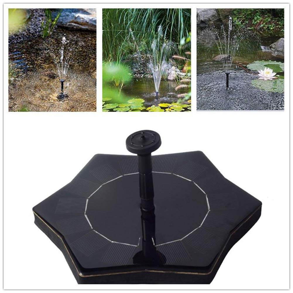 A-ZITCH Outdoor Starfish-shape Solar Fountain Solar Floating Water Fountain Pool Garden Pond Fountain Garden Decoration