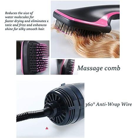 Secador y Styler 2-en-1 One Step, secador de pelo cepillo de aire caliente Ionic Technology plancha de pelo Salon Ideal para los Cabello secas y húmedas: ...