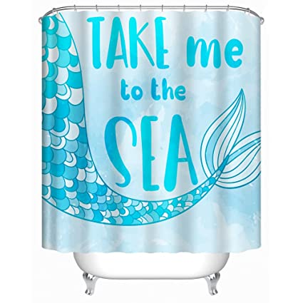 Amazon Com Uphome Beach Fabric Shower Curtain Take Me To The Sea