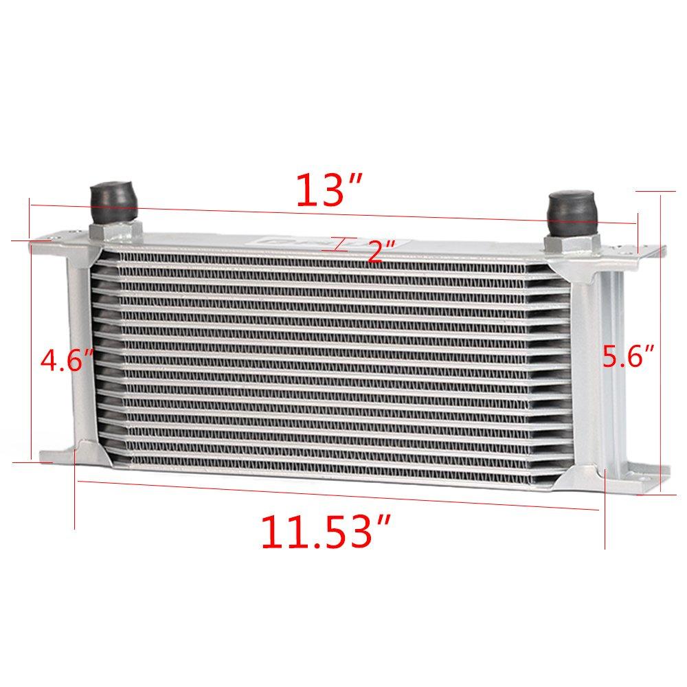 16 Row Oil Cooler Kit For BMW N54 Engine Twin Turbo 135 E82 335 E90 E92 E93