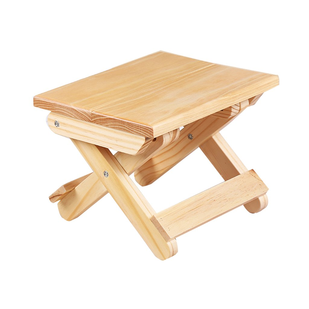 WANGXIAOLIN Solid Wood Folding Stool Portable Home/outdoor Fishing Chair