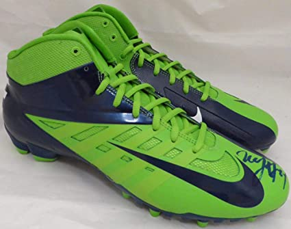 27e15a2ec3b6 Marshawn Lynch Autographed Nike Cleats Shoes Seattle Seahawks ML Holo Stock  #131209 - Autographed NFL