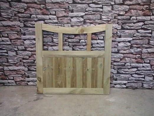 Curva de bajo rejilla de valla de jardín de madera – 3 M H: Amazon.es: Jardín