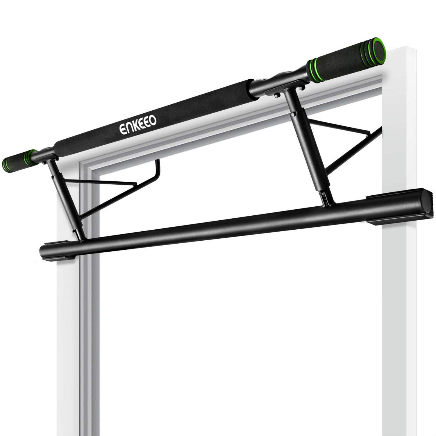 Amazon Com Enkeeo Doorway Pull Up Bar Fitness Chin Up Frame For