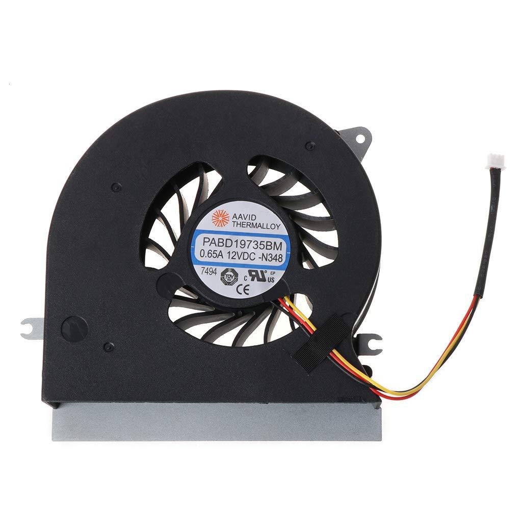 Cuawan Original CPU Fan CPU Cooling Fan Cooler for MSI MSI GT72 GT72S GT72VR 6QD 6RD MS-1781 MS-17 PABD19735BM 3Pin 0.65A 12VDC