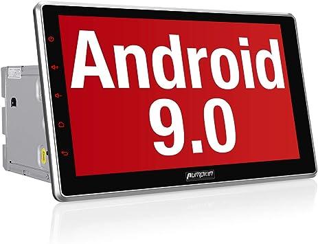 """Pumpkin 10.1"""" Android 9.0 2 DIN Autoradio Universal Radio para Coche, GPS Navegador Estéreo Doble soporta Control Volante, Bluetooth, WiFi, Mirror-Link, 1080P HD Video, USB, SD: Amazon.es: Electrónica"""