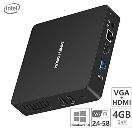 Z83-F Mini PC, Intel Atom x5-Z8350 Processor (2M Cache, up to 1 92  GHz)4K/4GB/64GB 1000Mbps LAN 2 4/5 8G Dual Band WiFi BT 4 0 Dual Screen  Display
