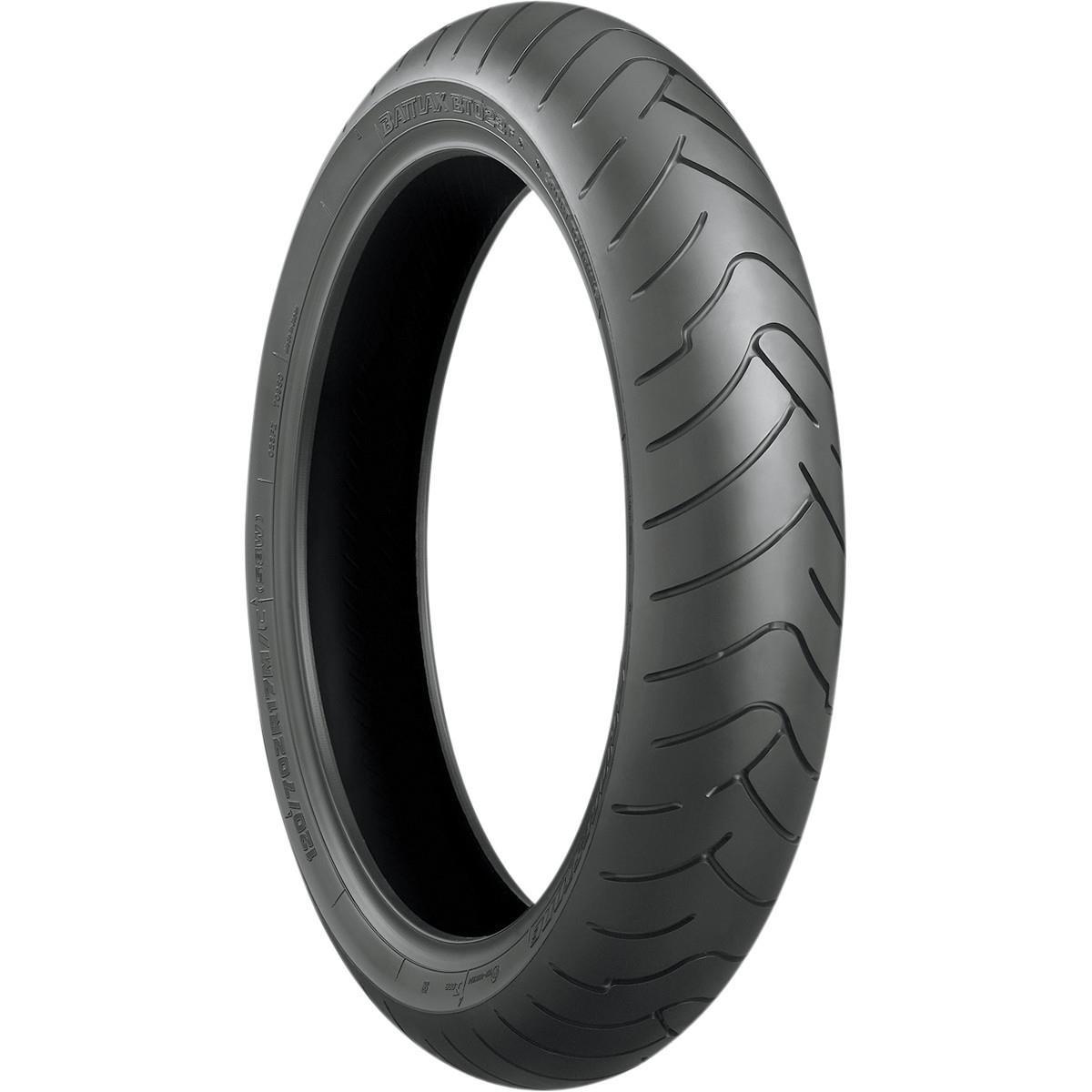 Tire Application: Touring 120// 70ZR-17 Tire Type: Street Speed Rating: Rim Size: 17 Position: Front W Bridgestone Battlax BT-023F Sport Touring Radial Tire Load Rating: 58 Tire Size: 120//70-17 Front Tire Construction: Radial 001279