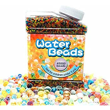 Aweoods Water Beads Rainbow Mix (45,000 Beads), Water Growing Balls For Kids Tactile Sensory Toys, Vase Filler, Plants Decoration