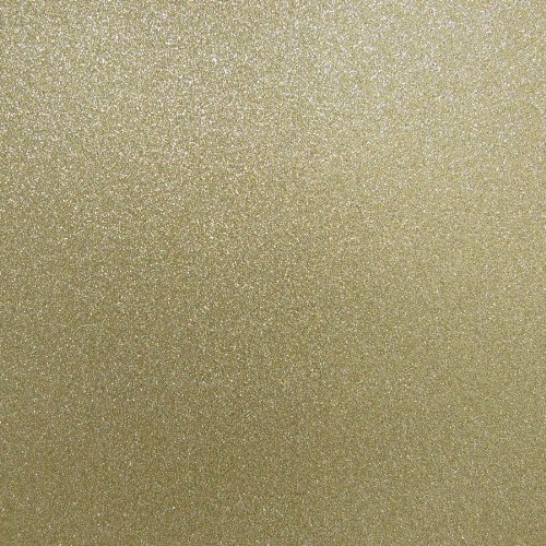 - Best Creation 12-Inch by 12-Inch Glitter Cardstock, Gold Leaf